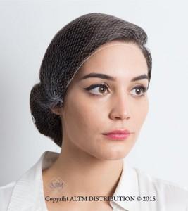 Weisses Haarnetz